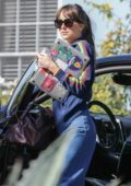 Dakota Johnson seen arriving at a friend's house in Los Angeles