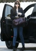 Dakota Johnson stops to pick up some groceries from Erewhon market in Los Angeles