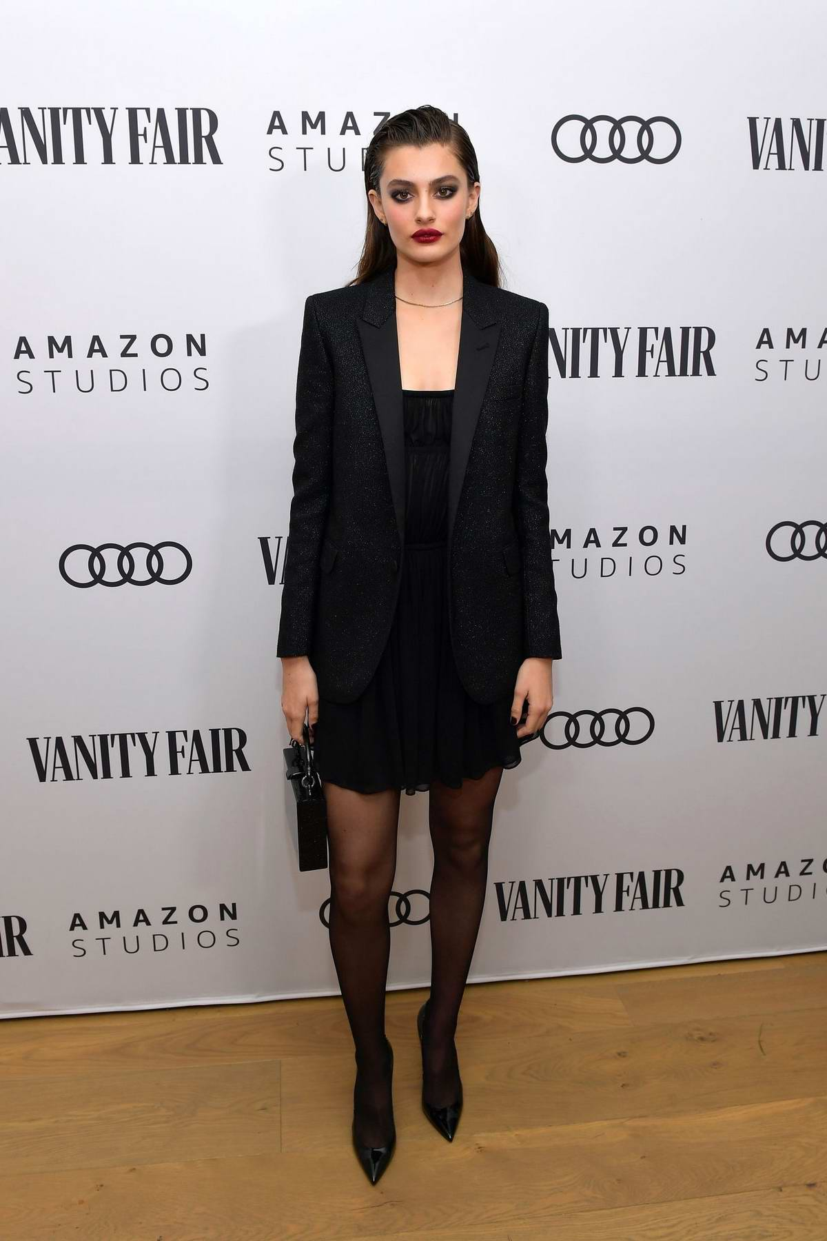Diana Silvers attends The Vanity Fair x Amazon Studios 2020 Awards Season Celebration in West Hollywood, California