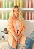 Dove Cameron attends 'FEKKAI' Turns the Tide Beach Salon and Cleanup event in Santa Monica, California