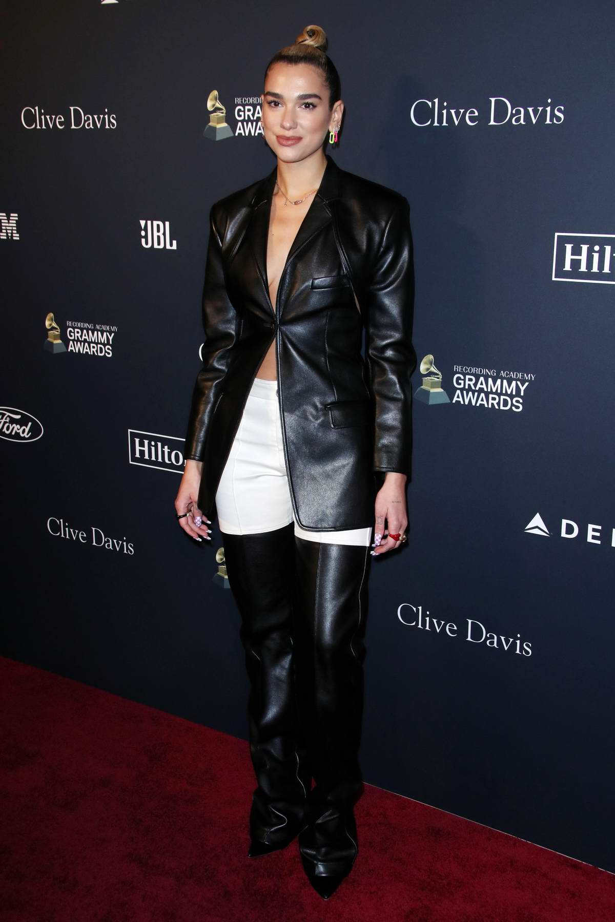 Dua Lipa attends the Recording Academy and Clive Davis Pre-Grammy Gala in Beverly Hills, California