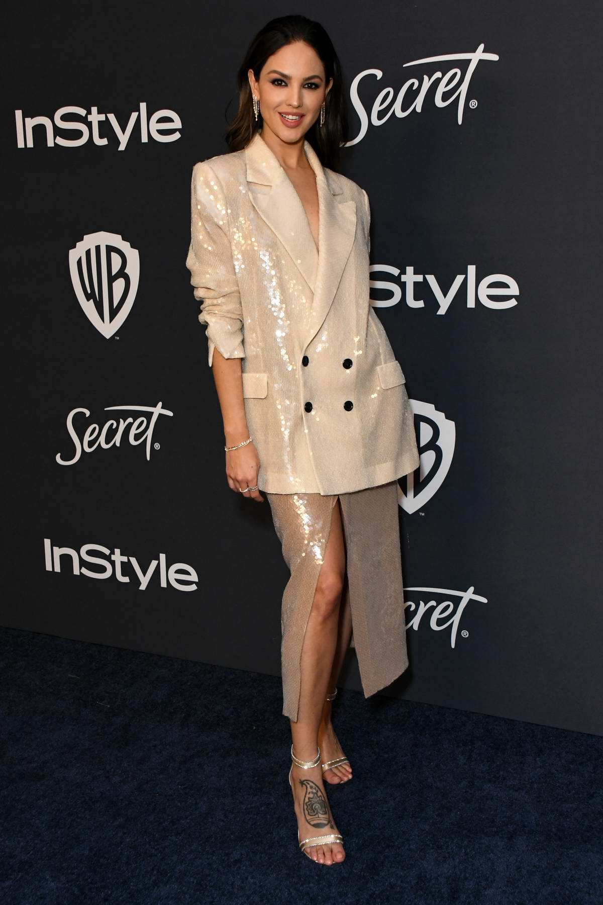 Eiza Gonzalez attends the 21st annual Warner Bros and InStyle Golden Globe After-Party in Beverly Hills, California