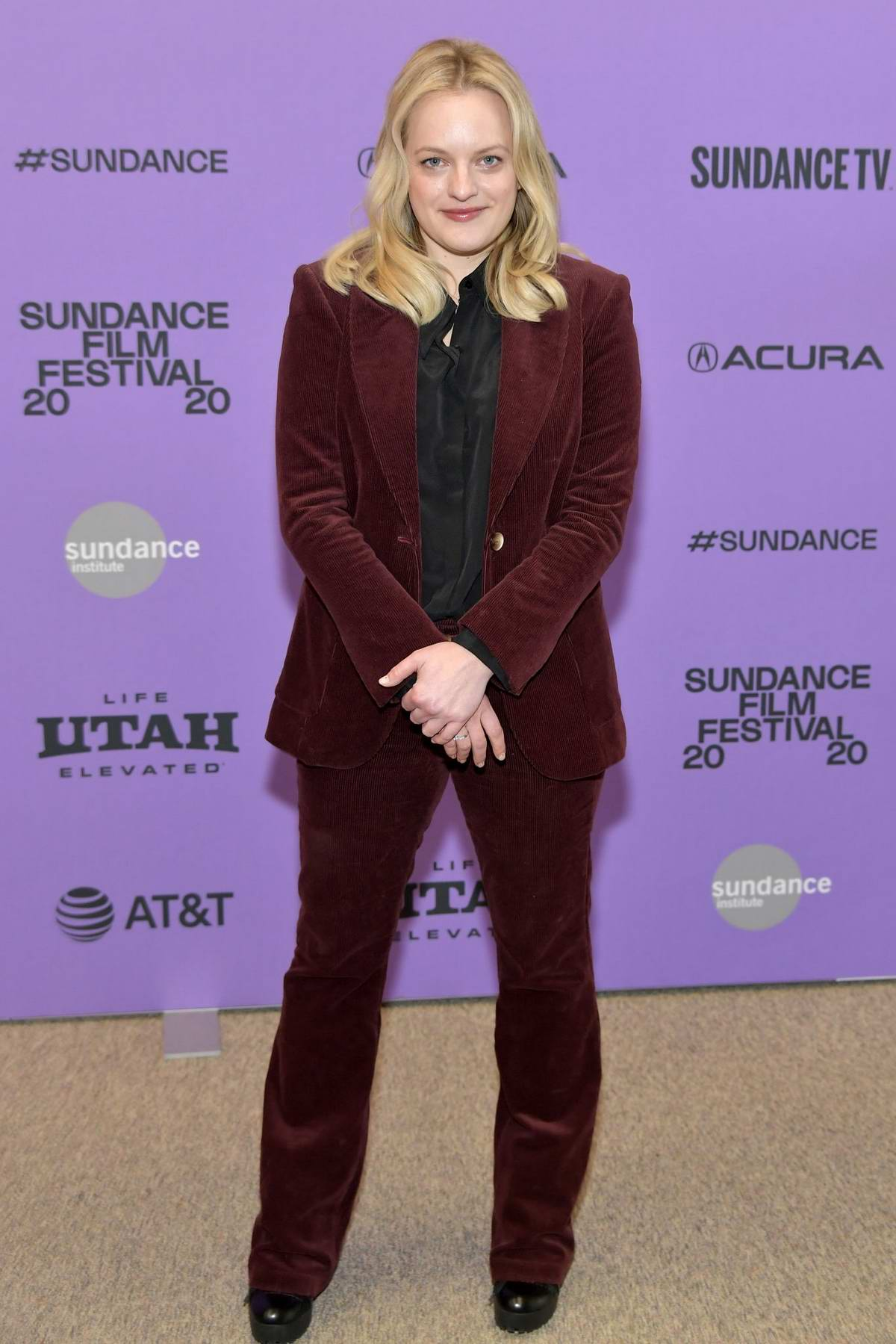 Elisabeth Moss attends the Premiere of 'Shirley' during the Sundance Film Festival 2020 in Park City, Utah