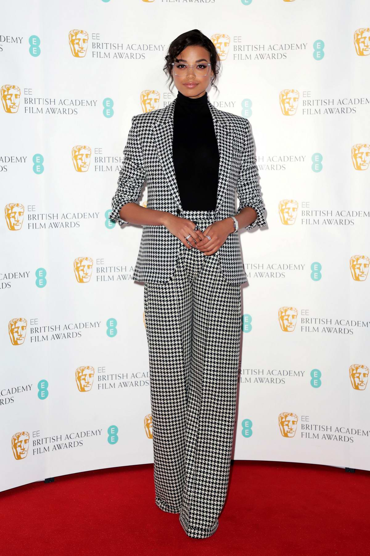 Ella Balinska attends the BAFTA Film Awards Nominations Announcement 2020 photocall in London, UK