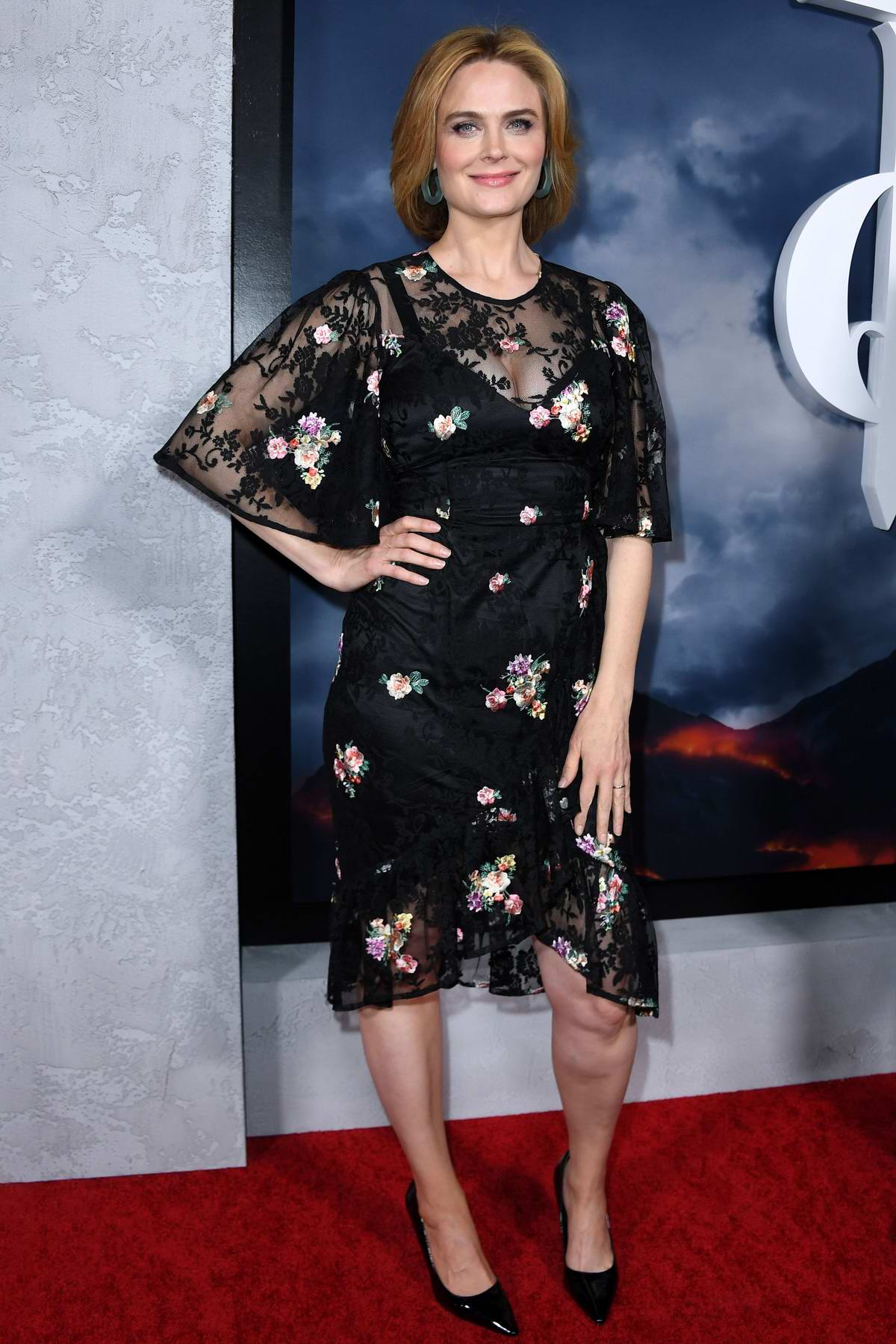 Emily Deschanel attends the Premiere of Apple TV+'s 'Mythic Quest: Raven's Banquet' in Hollywood, California