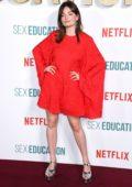 Emma Mackey attends the World Premiere of 'Sex Education' Season 2 at Genesis Cinema in London, UK