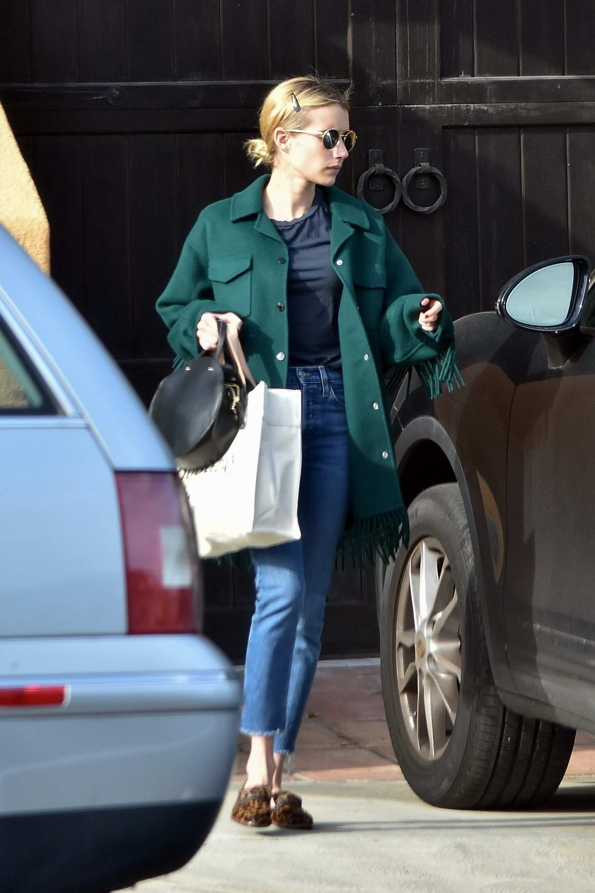 Emma Roberts Seen Leaving Garrett Hendlund S House In Los Feliz California 250120 5