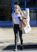 Emma Roberts shows off her toned body after a gym session in West Hollywood, California