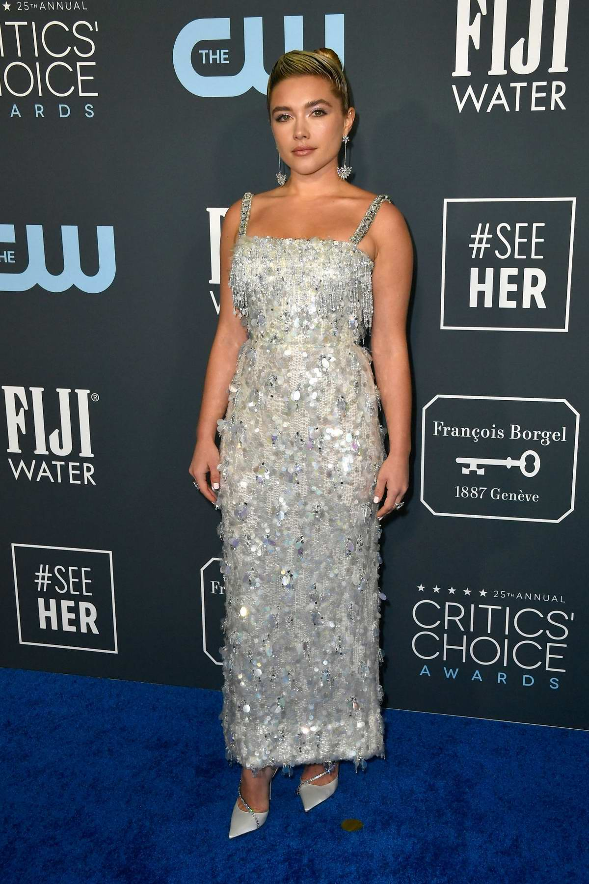 Florence Pugh attends the 25th Annual Critics' Choice Awards at Barker Hangar in Santa Monica, California