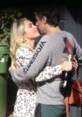 Florence Pugh shares a kiss with boyfriend Zach Braff while celebrating her Oscar nomination in London, UK