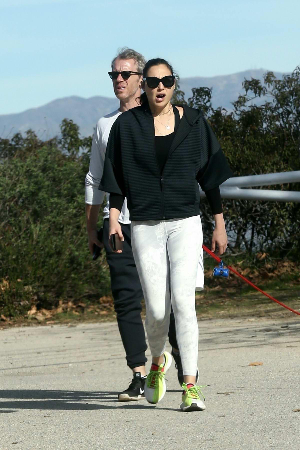 Gal Gadot and husband Yaron Varsano enjoy a hike with their dog in Los Angeles