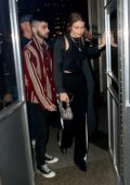 Gigi Hadid and Zayn Malik arrive at Eleven Madison Park to celebrate Zayn's 27th birthday in New York City
