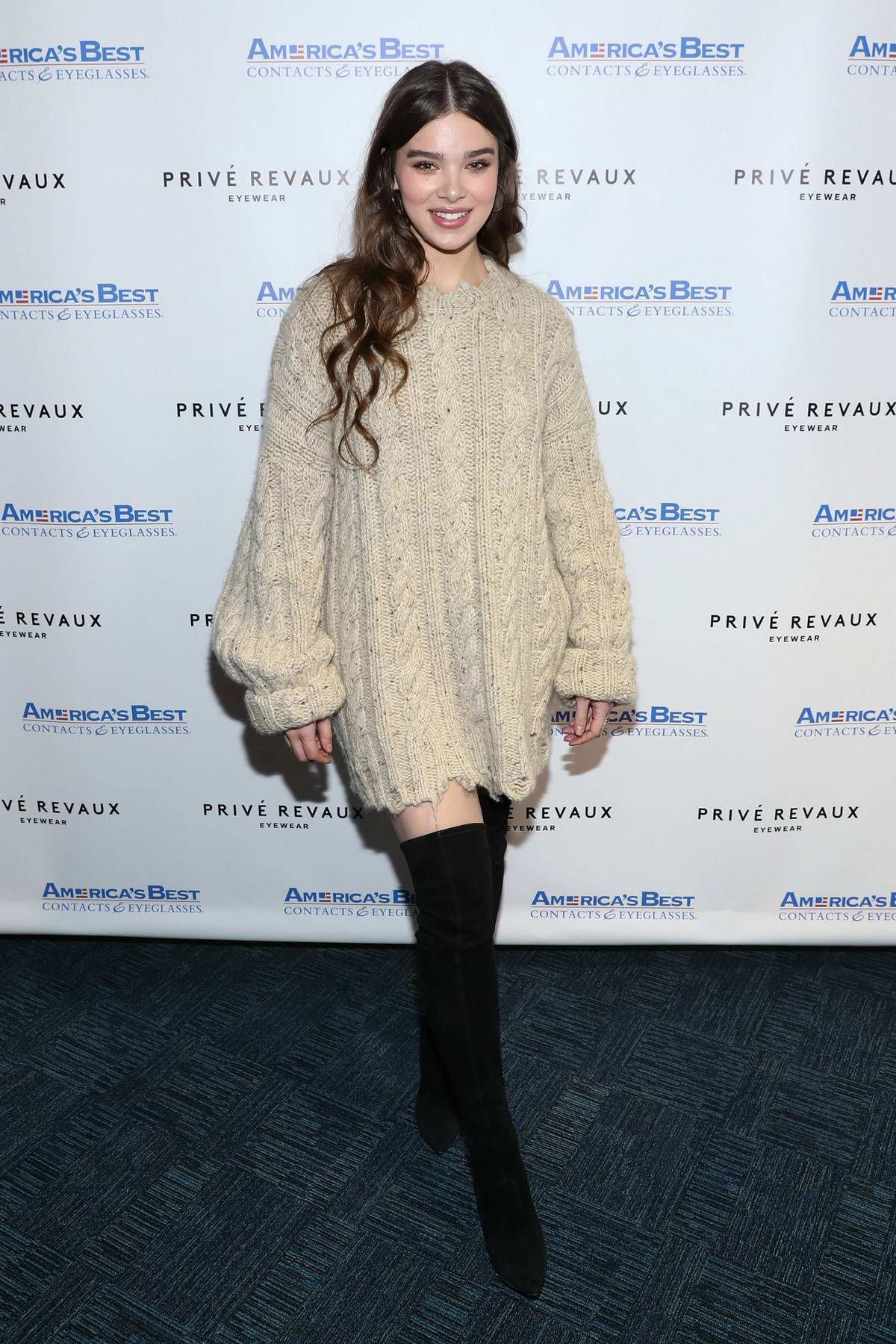 Hailee Steinfeld attends a Prive Revaux event in Glendale, New York