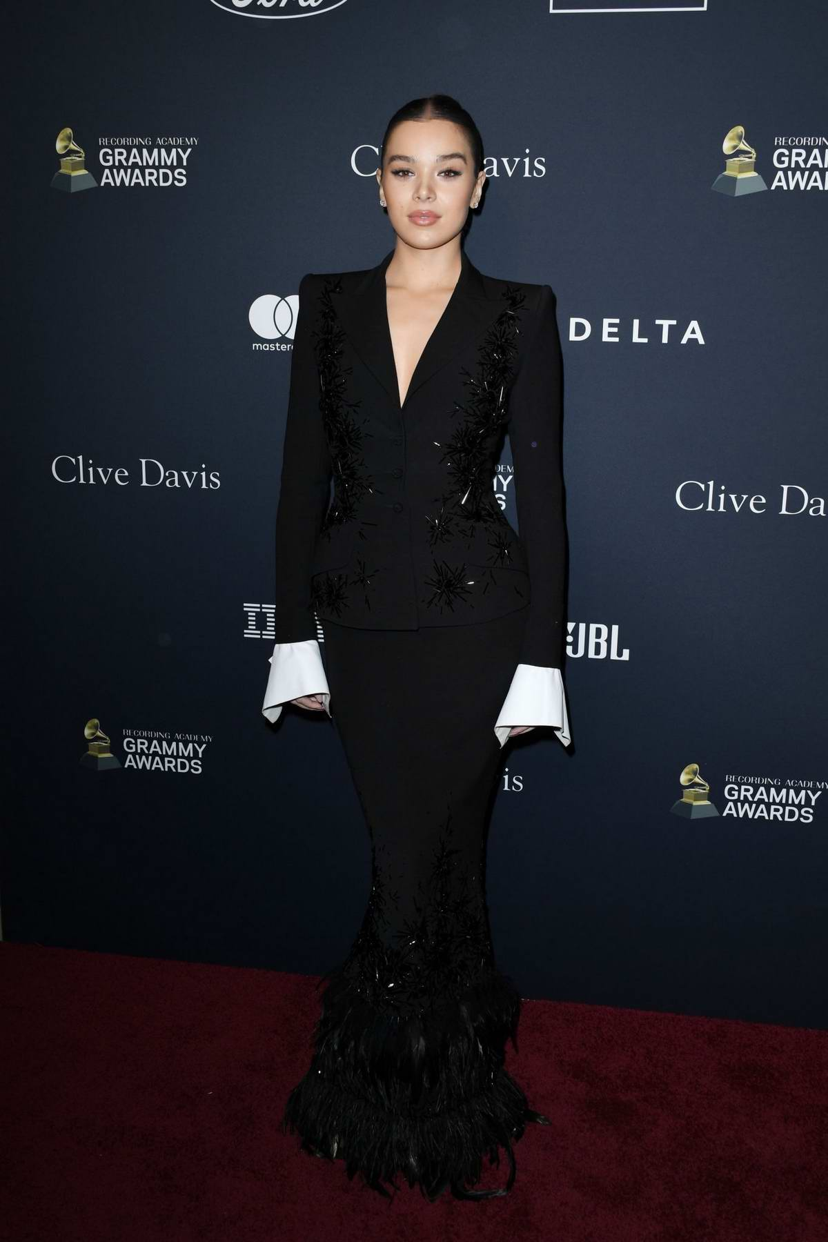 Hailee Steinfeld attends the Recording Academy and Clive Davis Pre-Grammy Gala in Beverly Hills, California