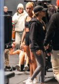 Hailey Bieber spotted during her workout session at DogPound in West Hollywood, California