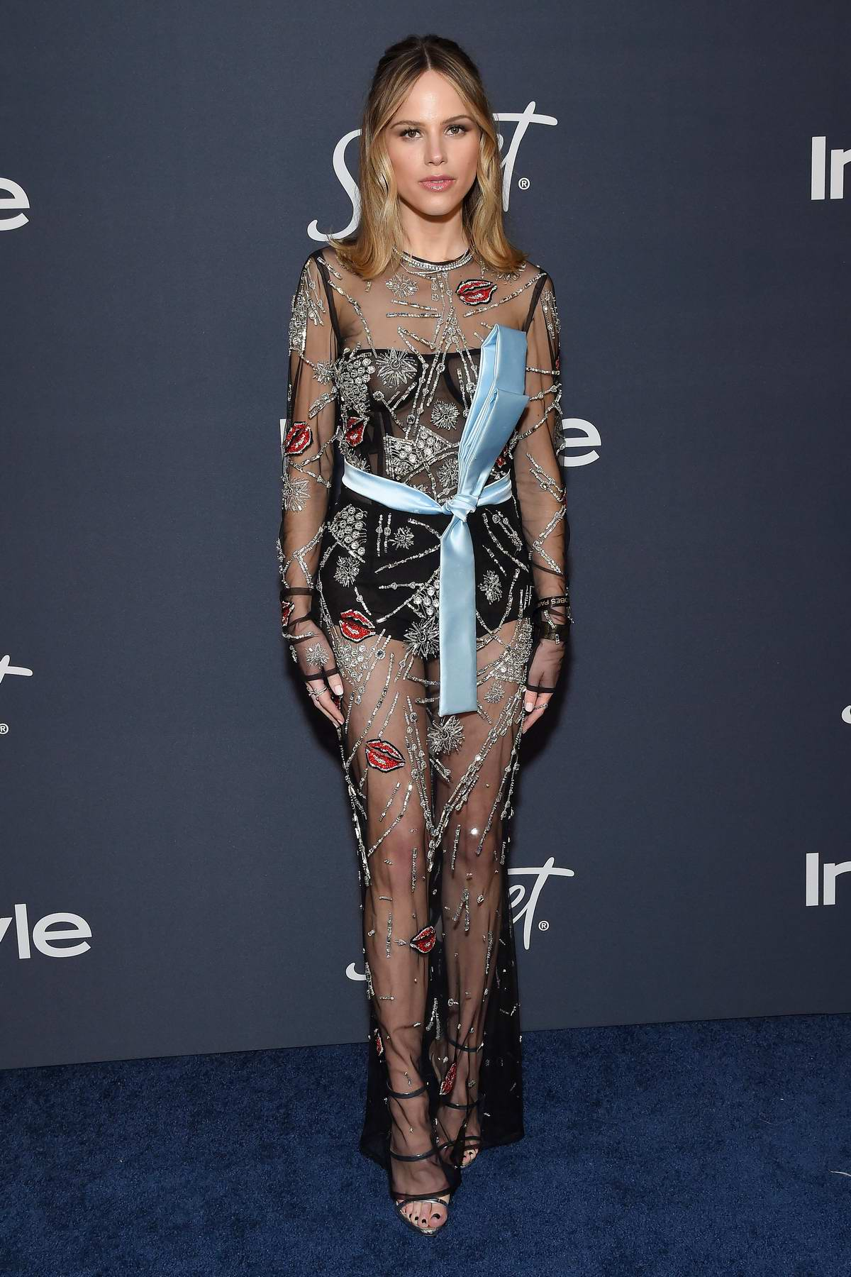 Halston Sage attends the 21st annual Warner Bros and InStyle Golden Globe After-Party in Beverly Hills, California