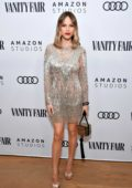 Halston Sage attends The Vanity Fair x Amazon Studios 2020 Awards Season Celebration in West Hollywood, California