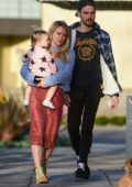 Hilary Duff and Matthew Koma step out for some coffee with their daughter Banks in Los Angeles