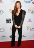 Isla Fisher attends the BAFTA Los Angeles Tea Party 2020 at Four Seasons Hotel in Beverly Hills, California