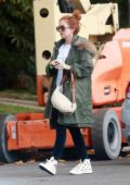 Isla Fisher steps out to run a few errands with her daughter in Beverly Hills, California