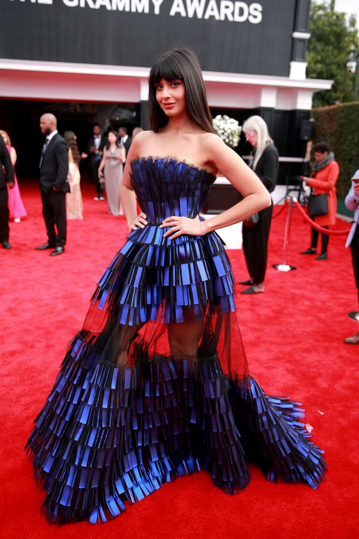 Jameela Jamil attends the 62nd Annual Grammy Awards at Staples Center in Los Angeles