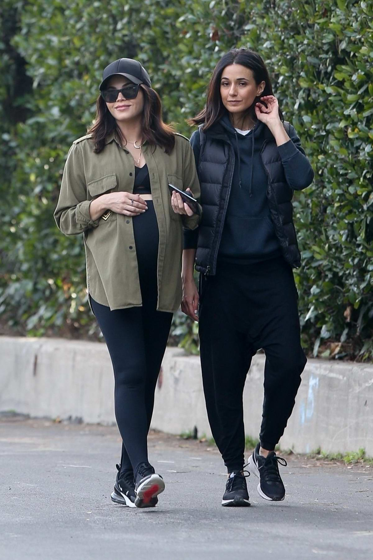 Jenna Dewan and Emmanuelle Chriqui step out for an afternoon hike in Los Angeles