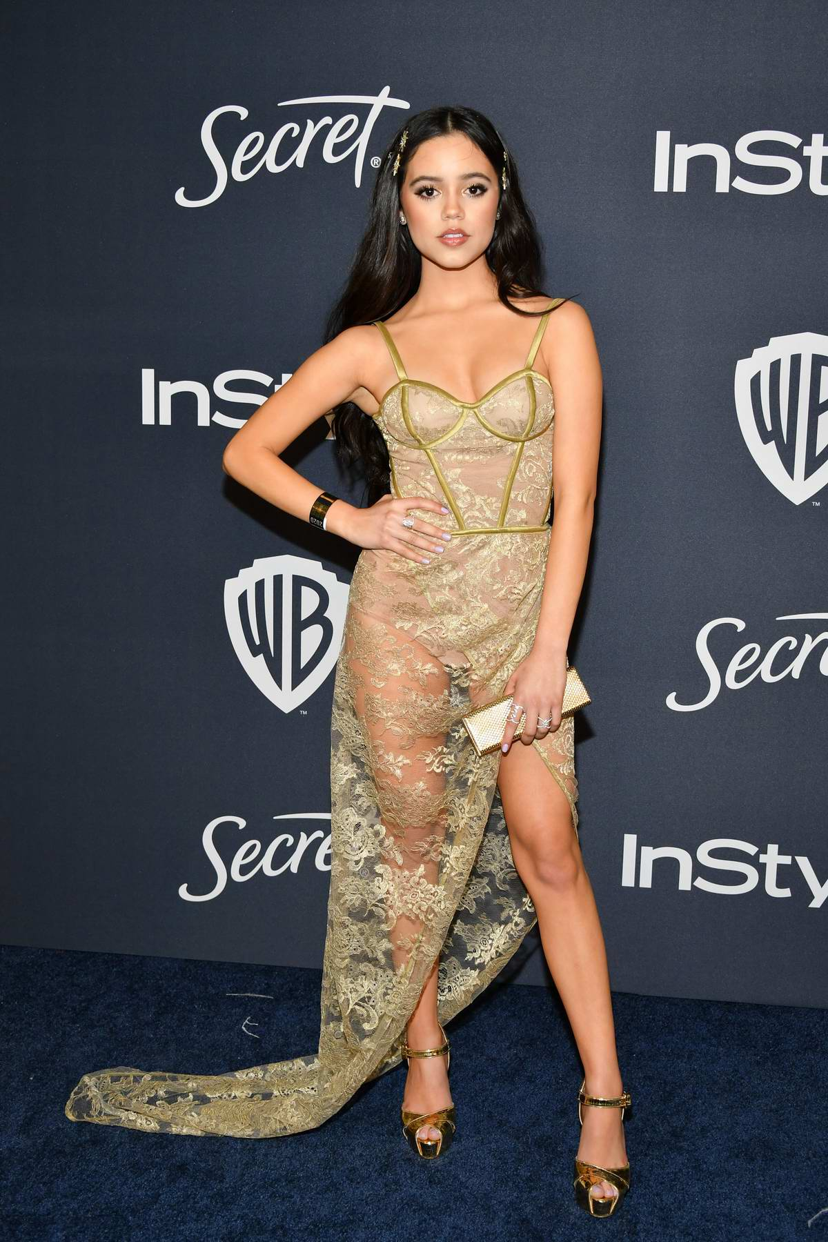Jenna Ortega attends the 21st annual Warner Bros and InStyle Golden Globe After-Party in Beverly Hills, California