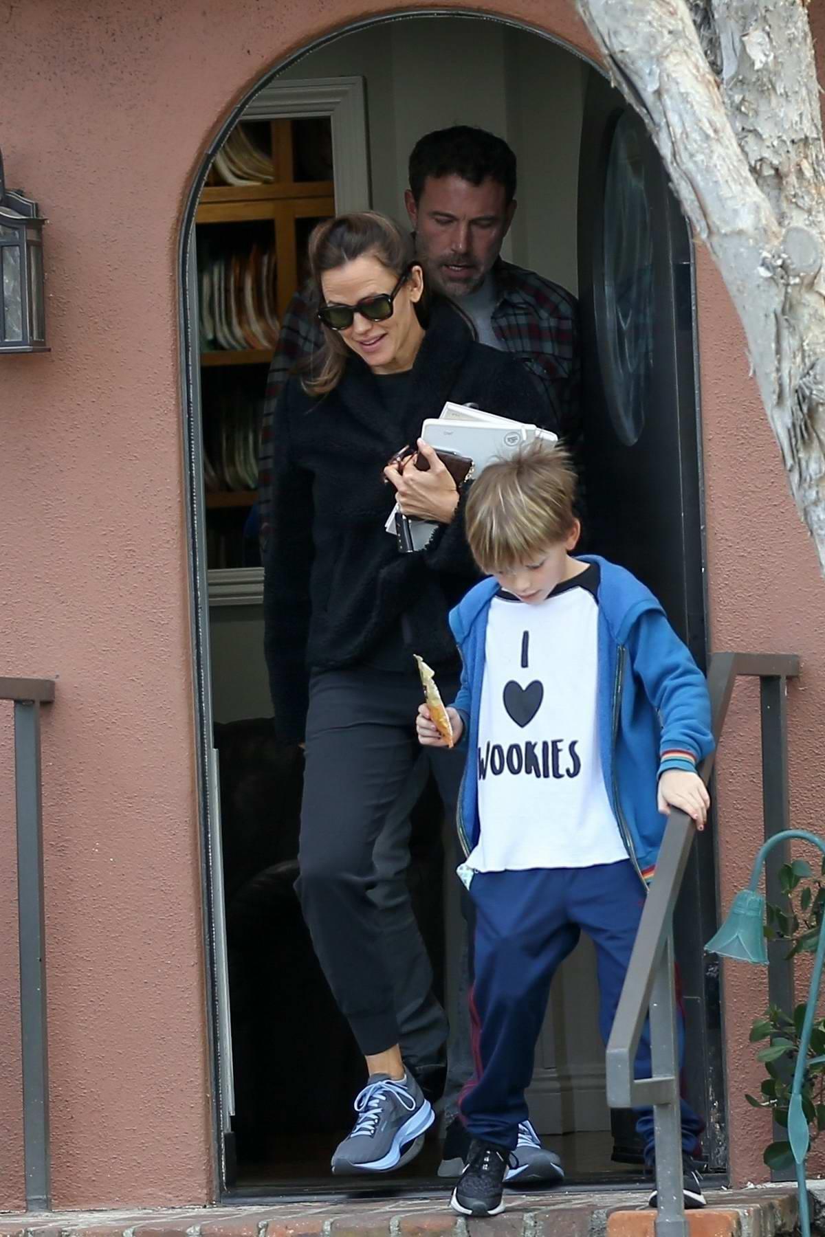 Jennifer Garner and Ben Affleck take their son Samuel to an appointment in Santa Monica, California