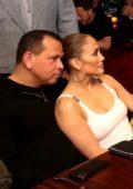 Jennifer Lopez and Alex Rodriguez seen at Benny Medina Birthday at Papi Steak in Miami Beach, Florida