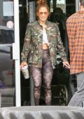 Jennifer Lopez rocks camo as she leaves a gym with friends in Miami, Florida