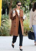Jessica Alba looks chic as she arrives at the Honest Company headquarters in Santa Monica, California