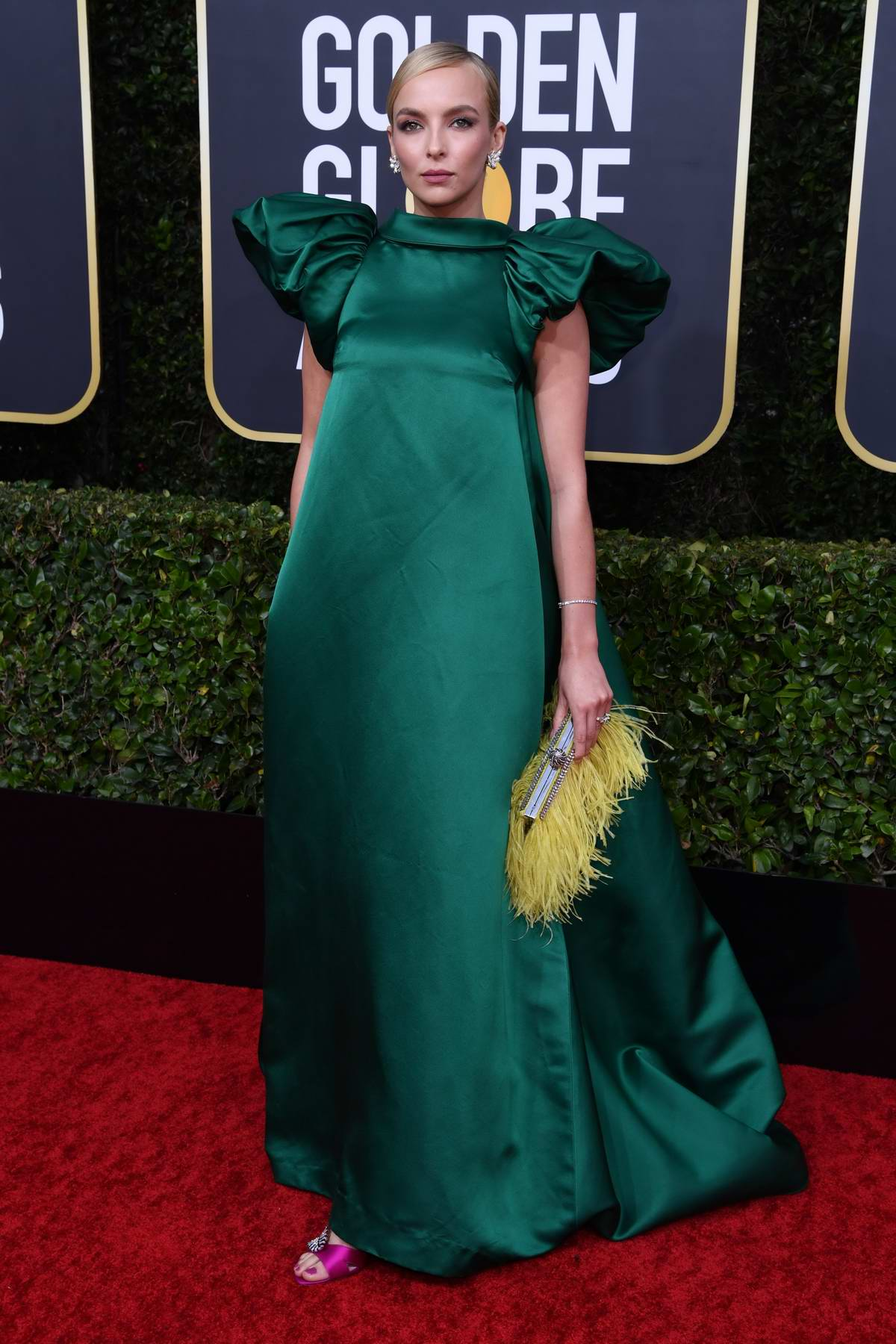 Jodie Comer attends the 77th Annual Golden Globe Awards at The Beverly Hilton Hotel in Beverly Hills, California