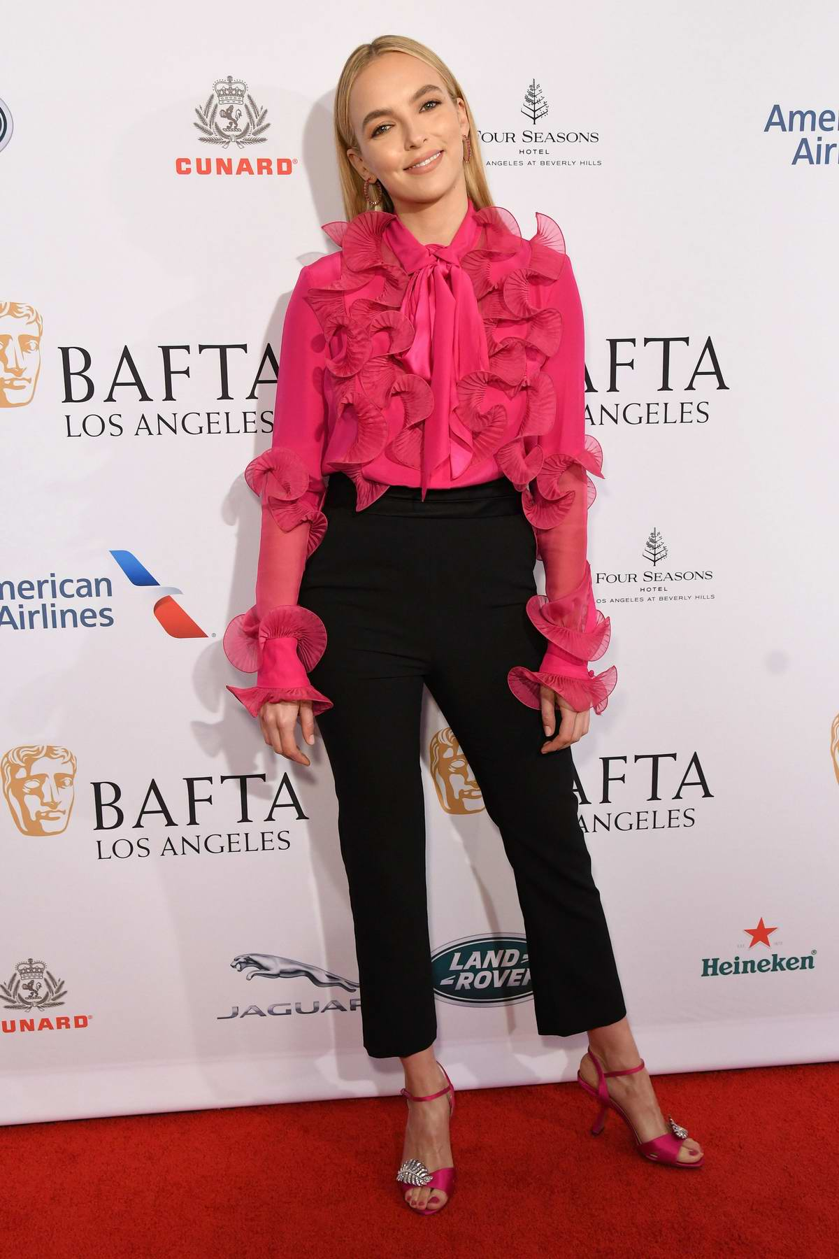 Jodie Comer attends the BAFTA Los Angeles Tea Party 2020 at Four Seasons Hotel in Beverly Hills, California