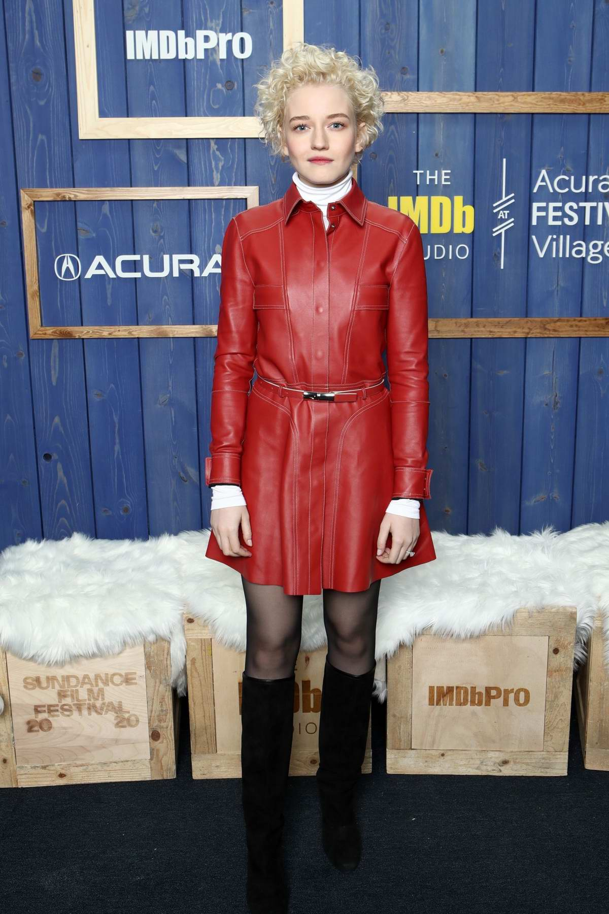 Julia Garner attends the IMDb Studio at Acura Festival Village during the Sundance Film Festival 2020 in Park City, Utah