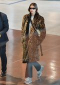Kaia Gerber makes a stylish arrival at the Charles de Gaulle airport in Paris, France