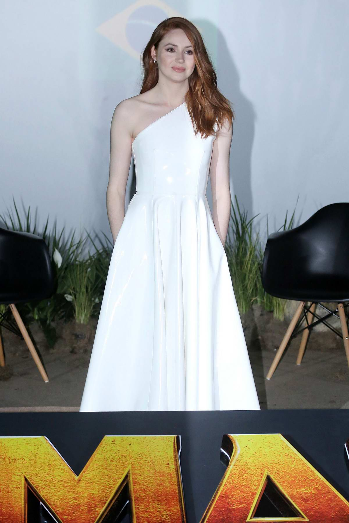 Karen Gillan attends a Photocall for 'Jumanji' in Sao Paulo, Brazil