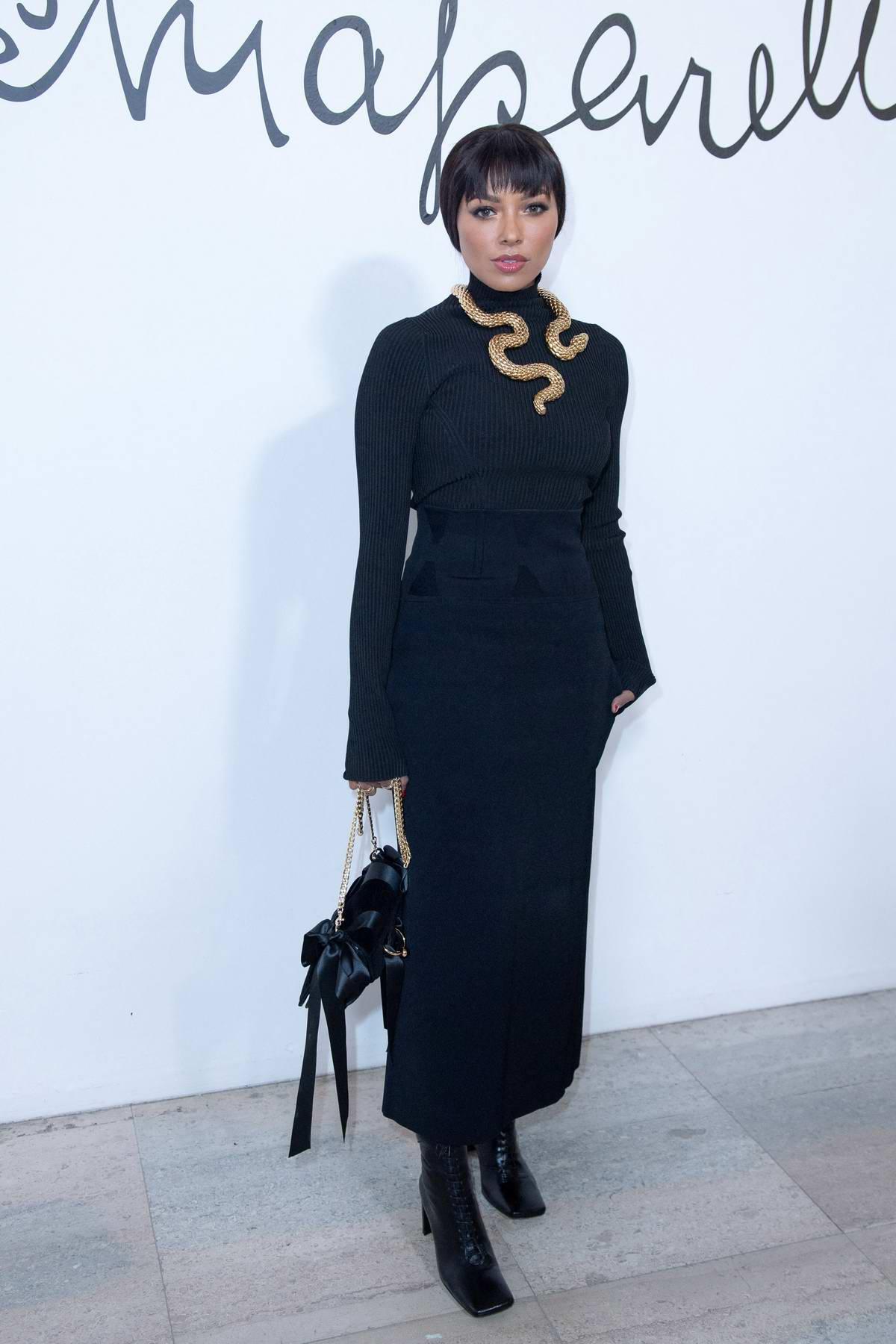 Kat Graham attends the Schiaparelli Haute Couture Spring/Summer 2020 show in Paris, France