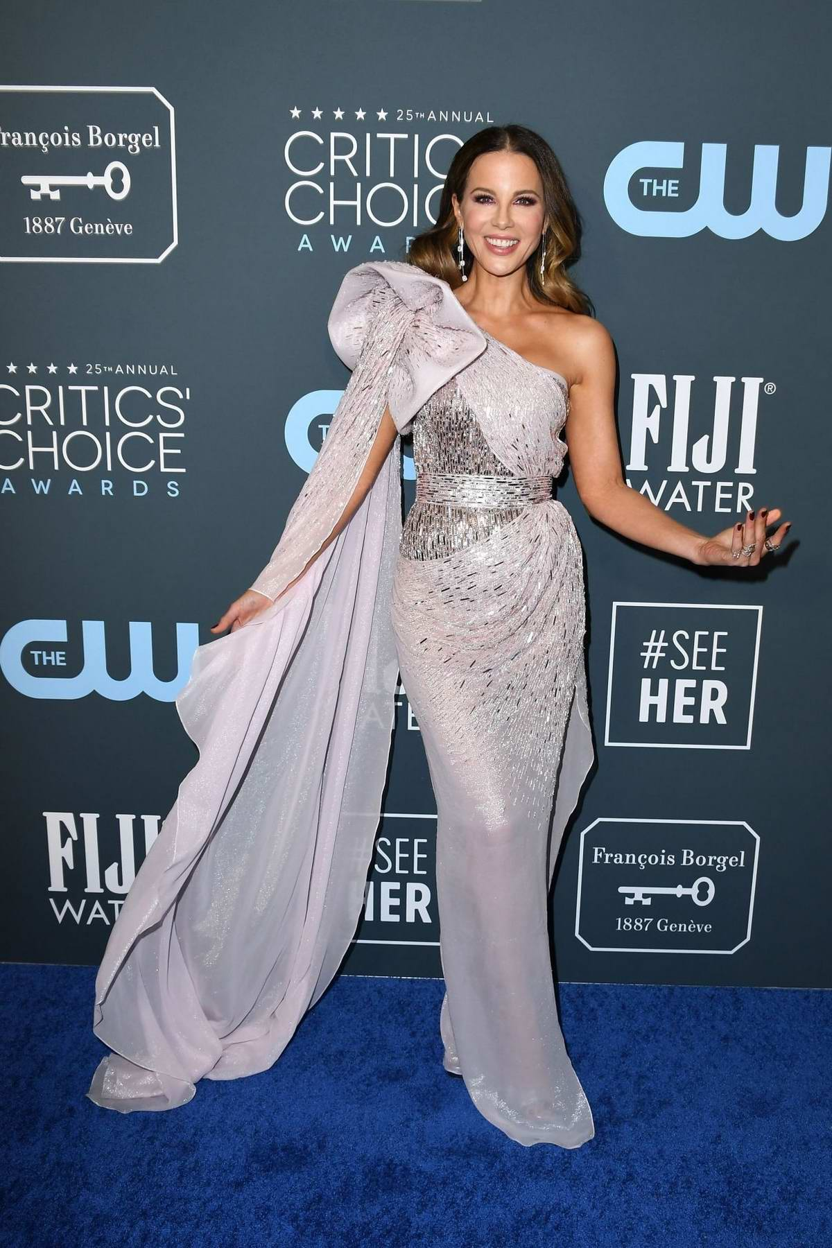 Kate Beckinsale attends the 25th Annual Critics' Choice Awards at Barker Hangar in Santa Monica, California
