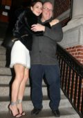 Katharine McPhee seen at the Jane Hotel party after wrapping up her final Performance of 'Waitress' on Broadway, New York City