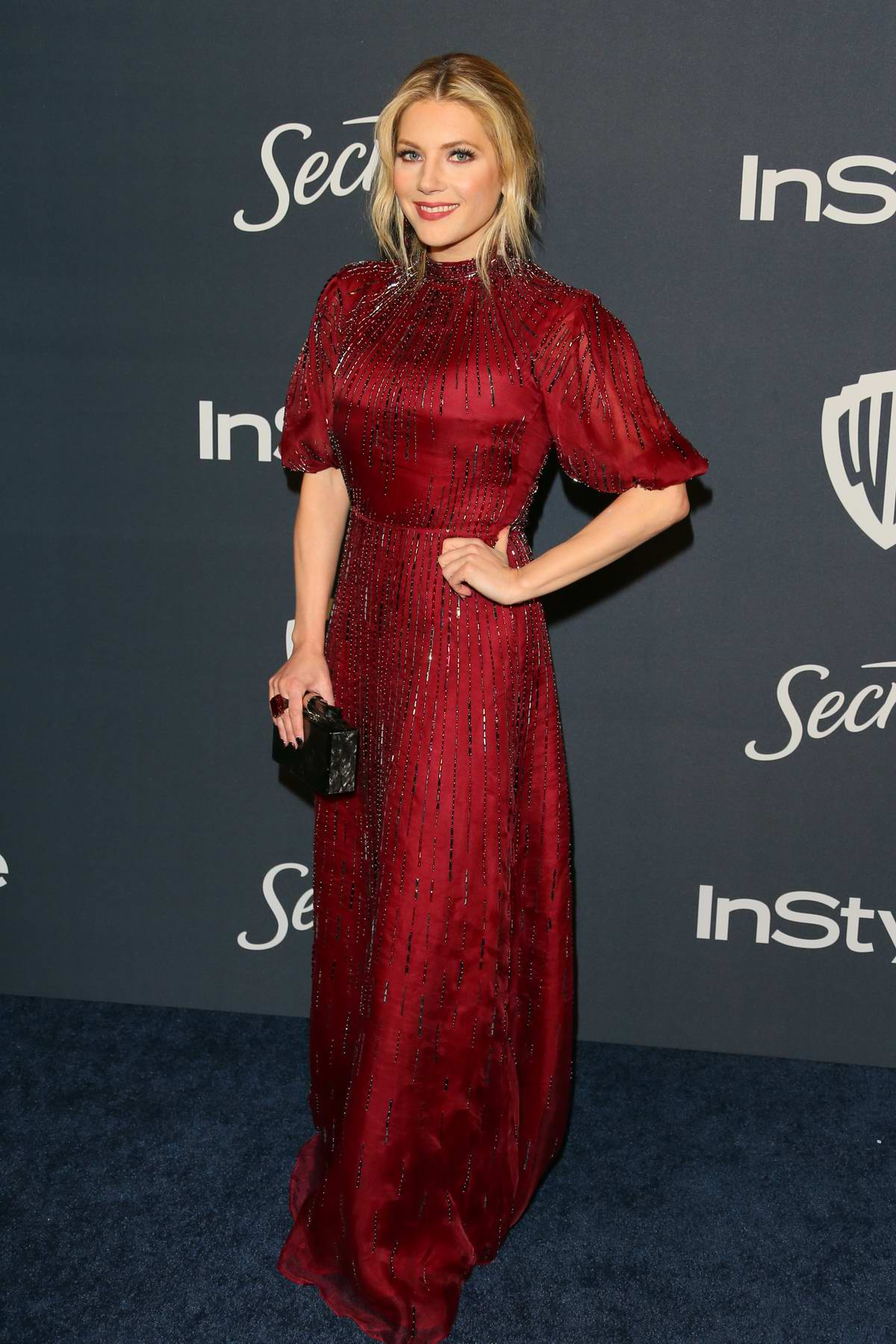 Katheryn Winnick attends the 21st annual Warner Bros and InStyle Golden Globe After-Party in Beverly Hills, California