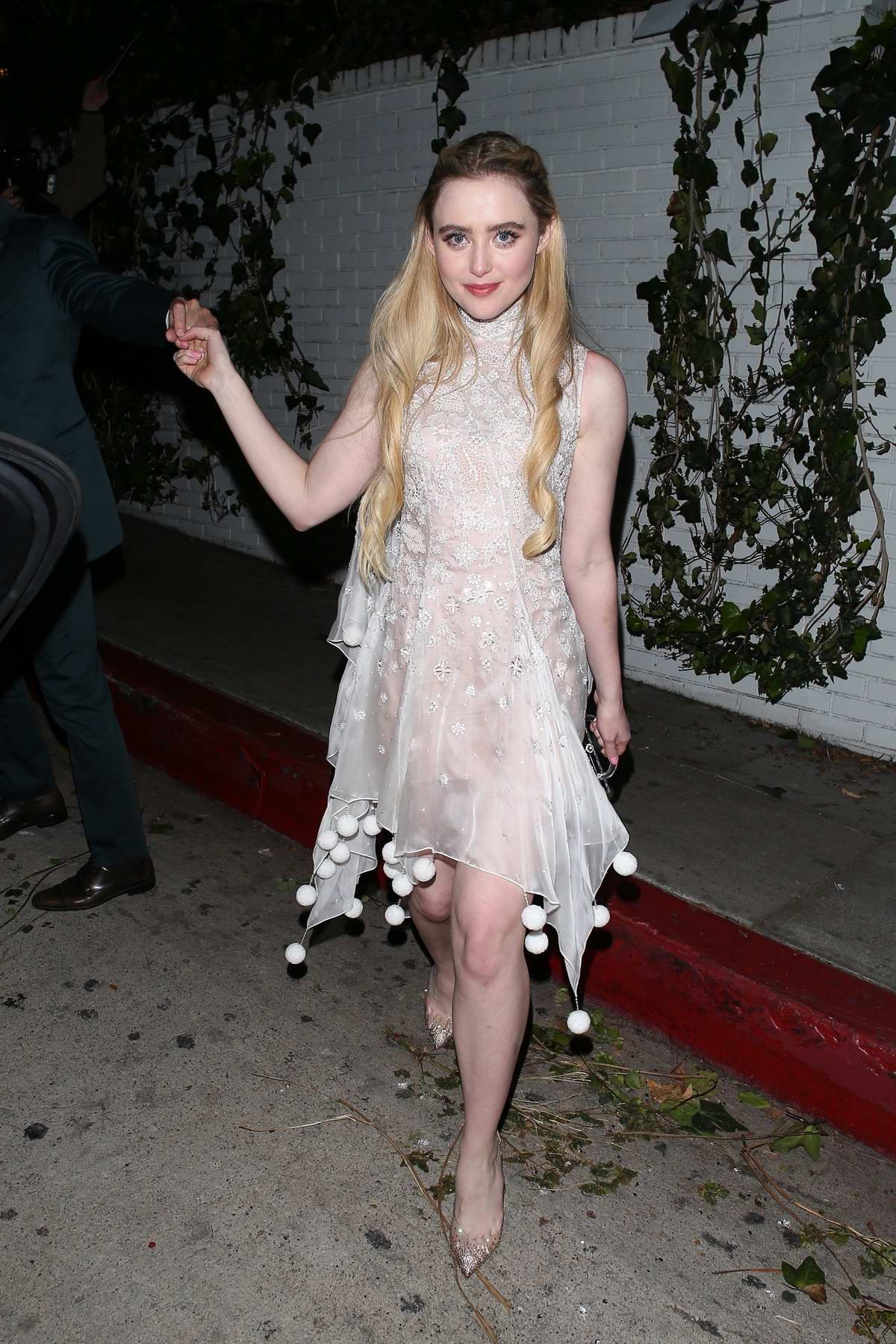 Kathryn Newton is all smiles as she leaves Chateau Marmont in West Hollywood, California