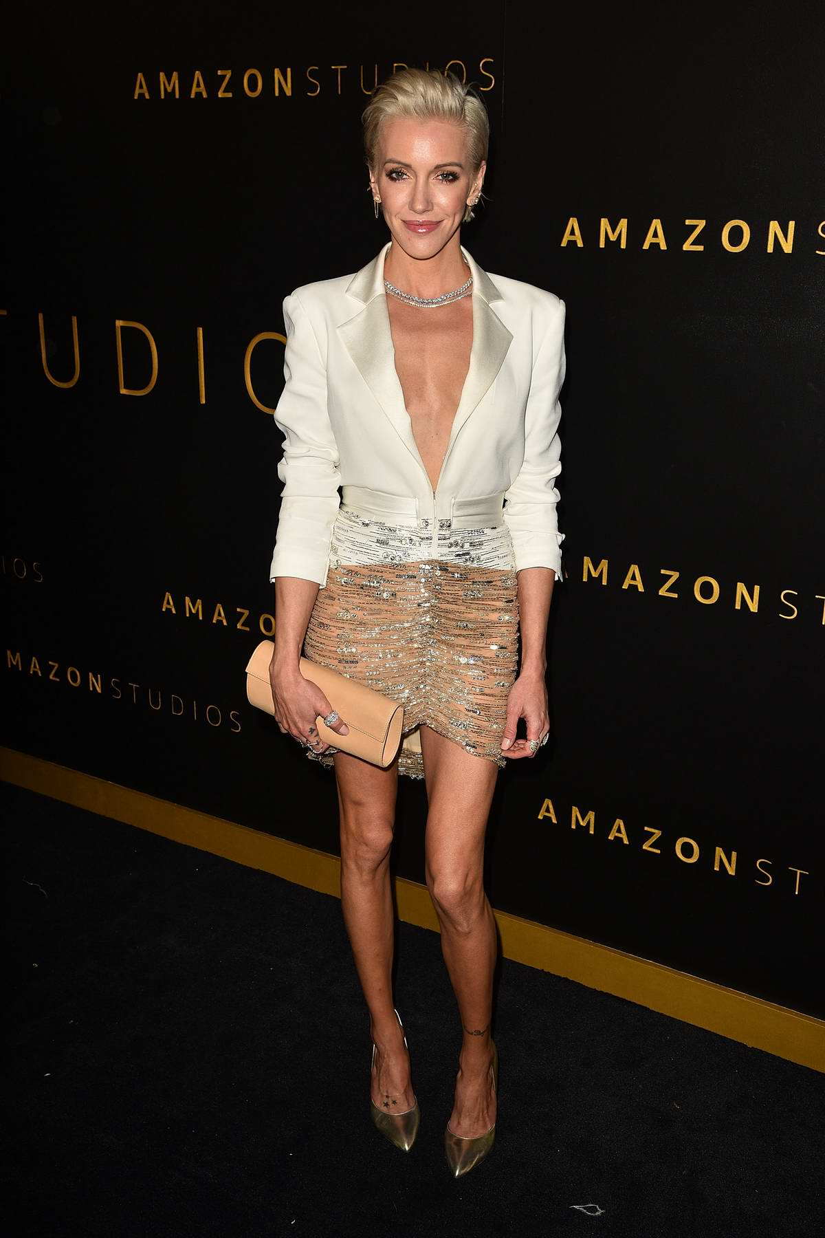 Katie Cassidy attends Amazon Studios Golden Globes After-Party at The Beverly Hilton Hotel in Beverly Hills, California