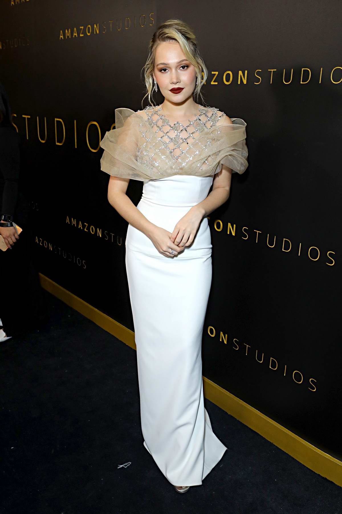 Kelli Berglund attends Amazon Studios Golden Globes After-Party at The Beverly Hilton Hotel in Beverly Hills, California