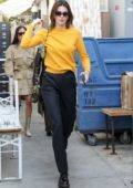 Kendall Jenner looks spiffy in yellow top and black trousers while out for lunch in Venice, California