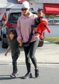 Khloe Kardashian enjoys her Saturday out with her daughter and niece in Los Angeles