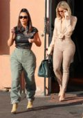 Kim Kardashian and Khloe Kardashian grab lunch at Emilio's Trattoria in Encino, California
