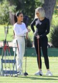 Kim Kardashian and Khloe Kardashian spotted as they enjoy some golfing in Los Angeles