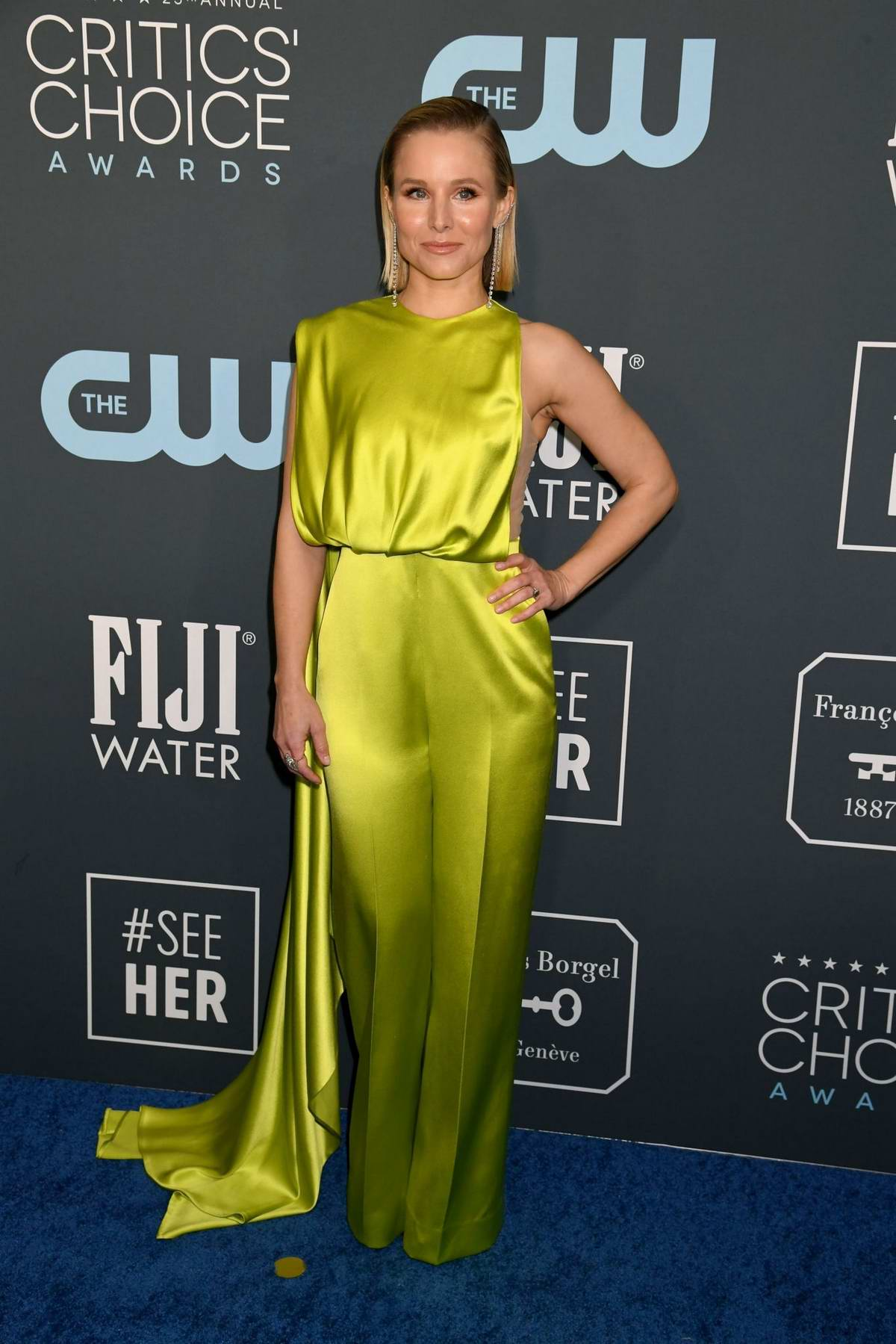 Kristen Bell attends the 25th Annual Critics' Choice Awards at Barker Hangar in Santa Monica, California