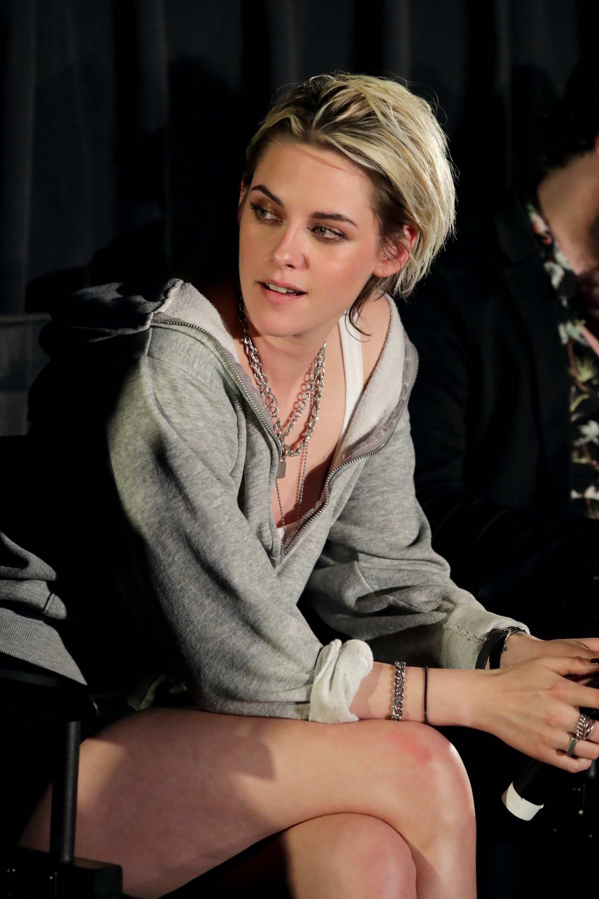 Kristen Stewart attends a Q&A session during the Fan Screening of 'Underwater' in Los Angeles
