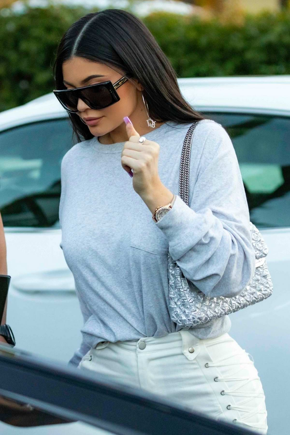 Kylie Jenner spotted grabbing lunch with Corey Gamble at Blue Table in Calabasas, California